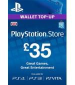 PSN Card 35 GBP (Lielbritānija)