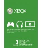Xbox LIVE Gold 3 mēnešu abonēšana