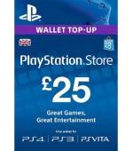 PSN Card 25 GBP (Lielbritānija)