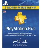 PSN PlayStation Plus 3 mēnešu abonēšana (Lielbritānija)